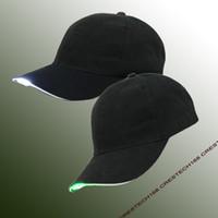 قبعة بيسبول بقيادة هات قابل للتعديل بسهولة تضيء قبعة بيسبول وامض مشرق النساء الرجال الرياضة قبعة الهيب هوب حزب الركض التخييم