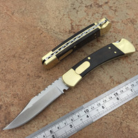 Special edition double mode 110 automatic knife yellow sanda...