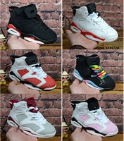 Children 6 Basketball shoes for Boy&Girl black red ReTro Inf...