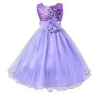 Hot Sale Baby Girl Flower sequins Dress Party Princess Dress...
