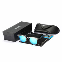 Classic Men Sunglasses For Man Anti-Reflective Mens Light Weight Smart Frame Sun Glasses With Box Birthday Gift