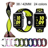 sports silicone strap for apple watch Iwatch band 42mm 38mm ...