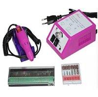 전문적인 핑크 전기 네일 드릴 매니큐어 머신 드릴 비트 110V - 240V (EU 플러그) 사용하기 쉬운