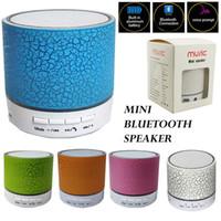 A9 Wireless Lautsprecher Mini Bluetooth-Lautsprecher führte farbige Flash-Lautsprecher-FM-Radio TF-Karte USB für iPhone x 8 Handy