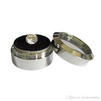 12 stks kleine schattige zilveren omkeerbare schuim rvs bead edelsteen edelsteen rhinestone diamant display opbergdoos case juwelen dozen