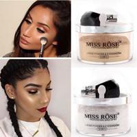 Miss Rose Glitter Gesicht lose Pulver Textmarker Makeup Shimmer Gold Silber Illuminator Palette mit Pinsel Aufhellung Make-up Set