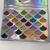 Moda Kadınlar Güzellik Cleof Kozmetik Denizkızı Glitter ve mat 32 renk Göz Farı Prizma Paleti Göz Makyajı Göz Farı Paleti
