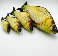 Artificial Fish Lovely felpa Pet Cat Puppy Dog Toys Sleeping Cushion Fun Toy Cat Mint Catnip Toys Gadget