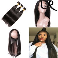 Malaysian Virgin Straight Hair and 360 Frontal Closure with ...