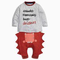 2018 otoño bebé niño ropa conjunto infantil ropa algodón letra impresa manga larga T-shirt + Pant 2 unids conjuntos de ropa de bebé