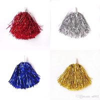 Handheld Pom Poms con Handle Competition Cheerleading Flower Ball Moda Cheer Up Dance Sport Supplies Muchos colores 1 7hd ZZ