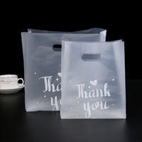 50 pcs sac en plastique portable épaissir le réticule transparent merci votre journée de Thanksgiving pour cuire dessert biscuits biscuits