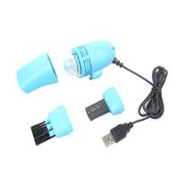 Mini Vacuum Keyboard Cleaner Dust Clean Machine pour ordinateur portable avec connexion USB Clavier Aspirateur Balayage Brosse Ciel Bleu