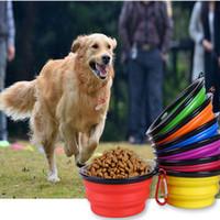 Köpek Besleme Şeker Renk Pet Köpek Kedi Maması Kase Taşınabilir Katlanabilir Katlanabilir Pet Kedi Köpek Maması Su Besleme Seyahat Kase