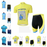 New Arrival. ASTANA team Cycling Short Sleeves jersey (bib) shorts  Sleeveless Vest sets Ropa ciclismo quick dry Bicycle cycling clothing  101211F a554dac9c