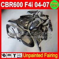 8Gifts Unpainted Full Fairing Kit لهوندا CBR600F4i CBR 600F4i CBR600 F4i 600 F4i 04 05 06 07 2004 2005 2006 2007 Fairings Bodywork Body