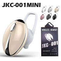 이어폰 무선 스테레오 헤드폰 JKC001 스포츠 미니 블루투스 4.0 핸즈프리 헤드셋 아이폰에 대 한 마이크 충전 상자와 귀에 자동차 헤드폰