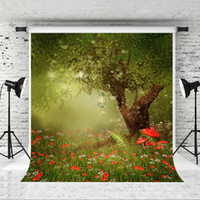 Мечта 5x7ft сказка фотография фон для детей фэнтези тема партии фон фото стенд лес красные цветы студия фоны