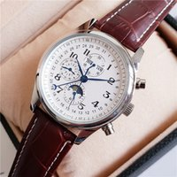New Brown Leather Fashion Mechanical Men' s Stainless St...