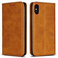 Magnetic Wallet Cow Skin Pu Leather Case For iPhone X XS XR ...