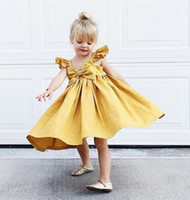 Summer Cute Baby Girl High Quality 2018 Bowknot Ruffle Dress...