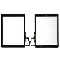 Сенсорный экран стеклянная панель дигитайзер с кнопками клей Ассамблеи для iPad воздуха Бесплатная доставка