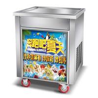 Tek Pot Ticari Kızarmış Dondurma Makinesi Endüstriyel Buz Kızartma Makinesi Rulo Dondurma Makinesi Fiyatı