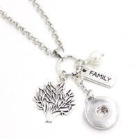 도매 DIY 맞춤 선물 18mm 스냅 쥬얼리 패밀리 트리 목걸이 18mm 스냅인 펜던트 목걸이 여성을위한 가족 선물