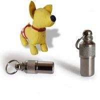 Оптово-Pet Dog Cat Mini ID TAG Анти-потерянный Имя Адрес Этикетка Идентичность Баррель Трубный ошейник Горячие продажи