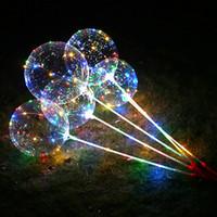 Nuovi palloncini a LED Bobo Balloon Ogni set include Palloncino a LED da 18 pollici + Asta da 80 cm +3 m Linea Led e maniglia Contenitore batteria 50 set