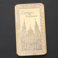 Golden commemorative coin Church gold- plated medallion