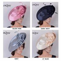 NOUVELLES COULEURS, chapeau de grande soucoupe Sinamay satin fascinateur pour Derby du Kentucky, mariage, église, fête, occasions officielles, toute l'année