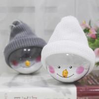 Muñeco de nieve de plástico bola transparente colgando decoración del árbol de navidad adornos adornos muñeca creativa decoración del hogar colgante 3 colores