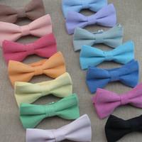 Solido papillon adulto Copia Cowboy bow tie15 colori regolare la fibbia uomo donna bowknot cravatta cravatta professionale per il regalo di natale