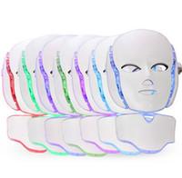 HOT !!! 7 색 PDT LED 마스크 피부 화이트닝 스킨 레 쥬 베 네이션 Photon LED 라이트 테라피 페이스 넥 홈 스킨 케어 얼굴 머신