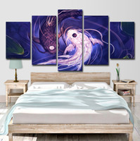 Wall Art HD Prints Canvas Pictures для гостиной 5 шт. Fish Koi Yin Yang Awesome Revel Painting Home Decor Poster