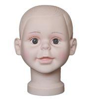 niño de alta calidad Mannequin Head Hat Display peluca modelo de entrenamiento modelo de cabeza de niño