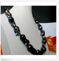 elegante 25-30mm Tahitian schwarze blaue Perlenhalskette 18 Zoll elegante 25-30mm Tahitian schwarze blaue Perlenhalskette 18 Zoll