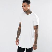 T shirt tutti i nuovi uomo estesa linea di abbigliamento curva Hem lunghe T-shirt uomo supera i T Hip Hop Urbano vuote Justin Bieber Camicie