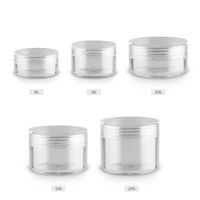 3g 5g 10g 15g 20g Durchsichtige Kunststoff Kleine Cremetiegel Leere Kosmetikbehälter Glas Für Kosmetik Make-Up Fall