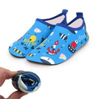 Unisex Casual Shoe Kids Быстрая сухая обувь Полые печатные копии Octopus Спортивная бег Антискользящая для купальника Beach Kid Shoe