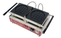 Ücretsiz Kargo 1-dilim Commecial Kullanım Yapışmaz Döner 110 v 220 v Elektrikli Donut Waffle Baker Maker Makinası Demir LLFA