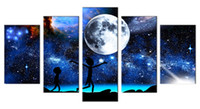 Rick and Morty Canvas Prints Wall Art Decor Poster Blue Star...