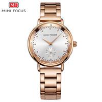 7af88e2421a MINIFOCUS Mulheres Relógio de Ouro Rosa de Luxo Da Marca de Quartzo Relógios  de Moda Senhoras Relógios de Pulso Menina Relógio Relogio feminino