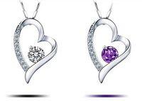 2018High качество австрийский хрусталь алмазы любовь Сердце кулон заявление ожерелье мода класс женщины девушки леди Swarovski элементы ювелирные изделия
