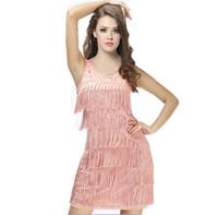 Yeni Kadın Latin Saçak Elbise Dans Giyim Kadın Latin Elbise Dans Salsa Cha Cha Kostüm Elbiseler Giyim Balo Salonu
