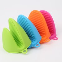Silicone Heat Resistant Oven Mini Mitts Pot Holder Pinch Gri...
