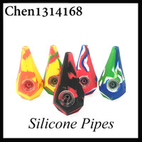 Diamond Silicone Smoking Pipes Water Hookah Bong Portable Ha...