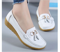 Hot sale New Cow Leather Women' s Soft Leisure Flats Fem...