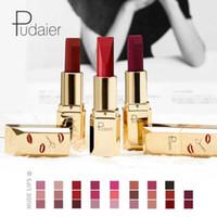 Pudaier Professionelle Make-up Matte Lippenstift Lippen Nude Sey Lipstick Lip Waterproof Lipstick Rouge eine Matratze Lippen